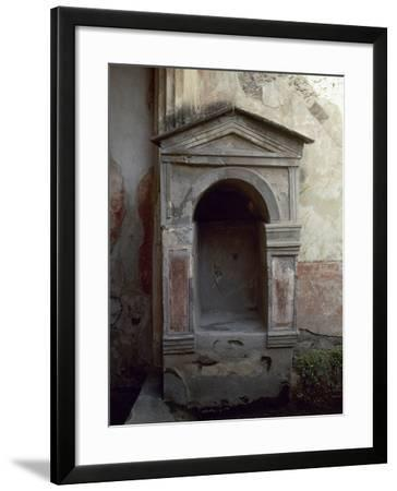 Italy, Pompeii, House of the Tragic Poet, Lararium--Framed Photographic Print