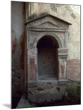 Italy, Pompeii, House of the Tragic Poet, Lararium--Mounted Photographic Print