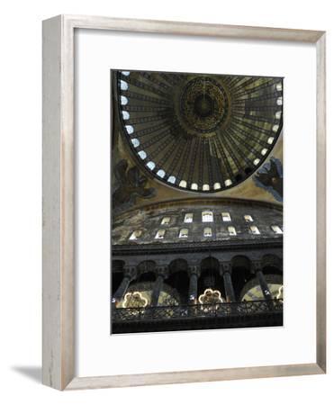 Hagia Sophia, Interior, Istanbul--Framed Photographic Print