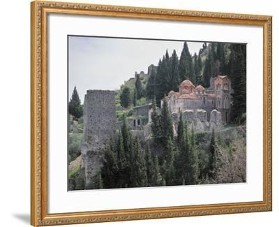 Church Surrounded by Trees, Church of Panayia, Peloponnese, Greece--Framed Photographic Print