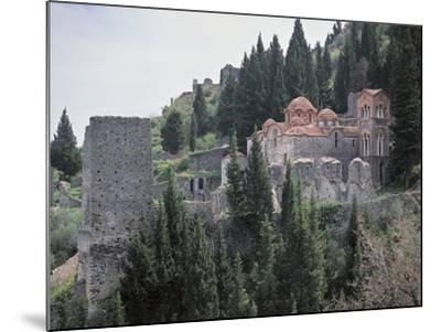 Church Surrounded by Trees, Church of Panayia, Peloponnese, Greece--Mounted Photographic Print
