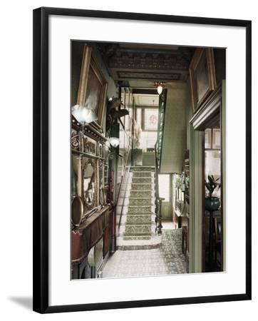 Hallway of 18 Stafford Terrace, Kensington and Chelsea, London--Framed Photographic Print