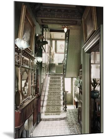 Hallway of 18 Stafford Terrace, Kensington and Chelsea, London--Mounted Photographic Print