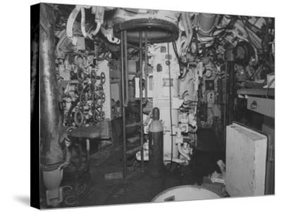 The Control Room Looking Aft on the Captured German Submarine U505--Stretched Canvas Print