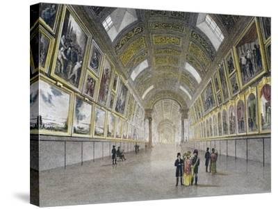 Great Gallery of Louvre, France, 18th Century--Stretched Canvas Print