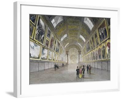 Great Gallery of Louvre, France, 18th Century--Framed Photographic Print