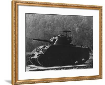 The General Sherman Tank--Framed Photographic Print