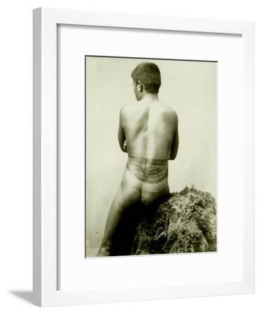 View of a Samoan Pe'A Tattoo, 19th Century--Framed Photographic Print