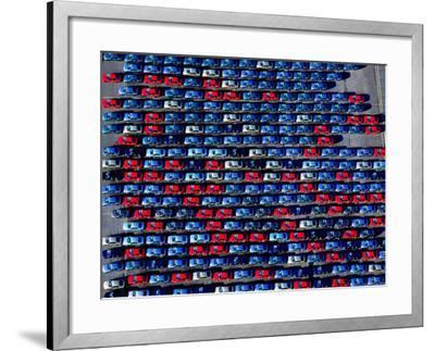 Cars at Bristol Docks--Framed Photographic Print