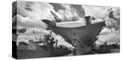 Intrepid Aircraft Carrier Panorama NYC-Henri Silberman-Stretched Canvas Print