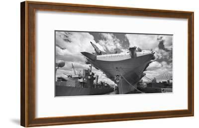 Intrepid Aircraft Carrier Panorama NYC-Henri Silberman-Framed Photographic Print