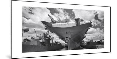 Intrepid Aircraft Carrier Panorama NYC-Henri Silberman-Mounted Photographic Print