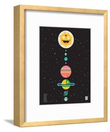 Wee Galaxy, Solar System-Wee Society-Framed Premium Giclee Print