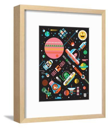 Wee Galaxy, Space Mania-Wee Society-Framed Premium Giclee Print