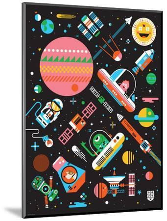 Wee Galaxy, Space Mania-Wee Society-Mounted Premium Giclee Print