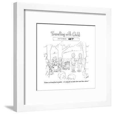 Traveling with child - Day 7 - Cartoon-Tom Toro-Framed Premium Giclee Print