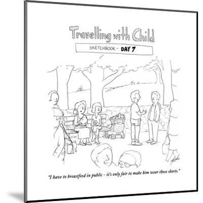 Traveling with child - Day 7 - Cartoon-Tom Toro-Mounted Premium Giclee Print