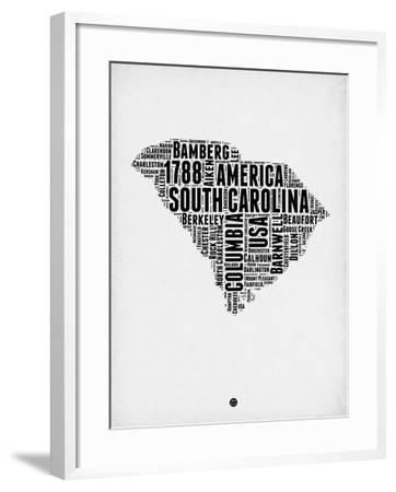 South Carolina Word Cloud 1-NaxArt-Framed Art Print
