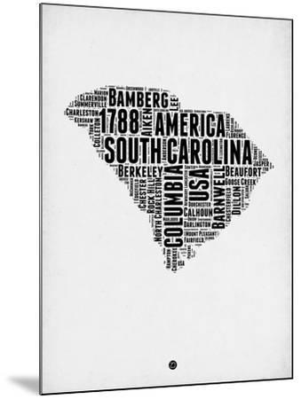 South Carolina Word Cloud 1-NaxArt-Mounted Art Print