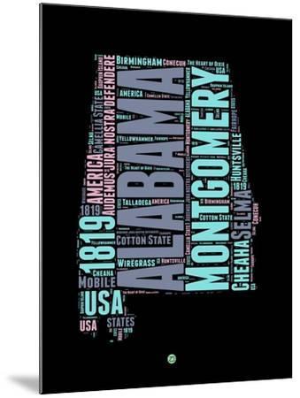 Alabama Word Cloud 1-NaxArt-Mounted Art Print