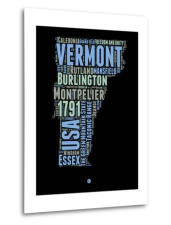 Vermont Word Cloud 1-NaxArt-Metal Print