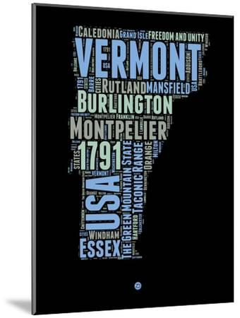 Vermont Word Cloud 1-NaxArt-Mounted Art Print