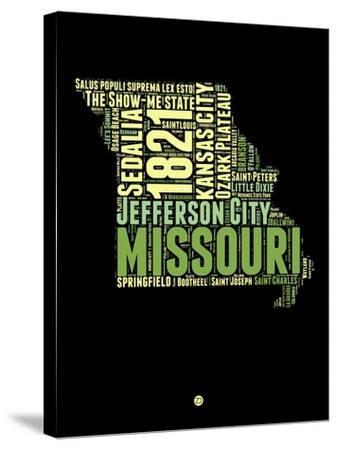 Missouri Word Cloud 1-NaxArt-Stretched Canvas Print
