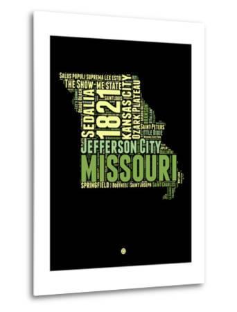 Missouri Word Cloud 1-NaxArt-Metal Print