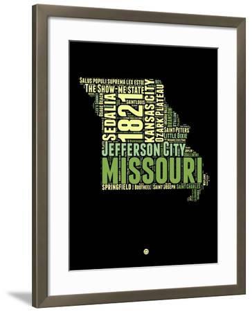 Missouri Word Cloud 1-NaxArt-Framed Art Print
