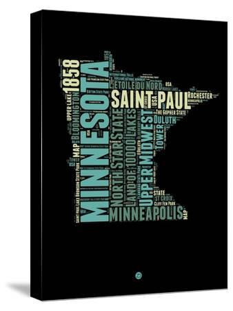 Minnesota Word Cloud 1-NaxArt-Stretched Canvas Print