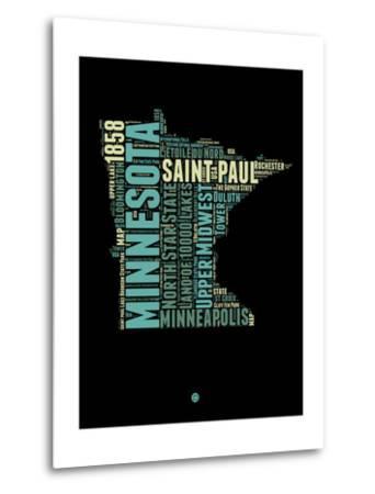 Minnesota Word Cloud 1-NaxArt-Metal Print