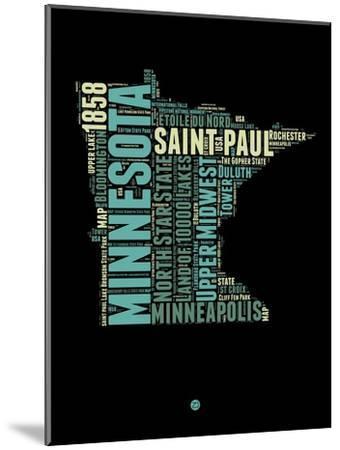 Minnesota Word Cloud 1-NaxArt-Mounted Art Print