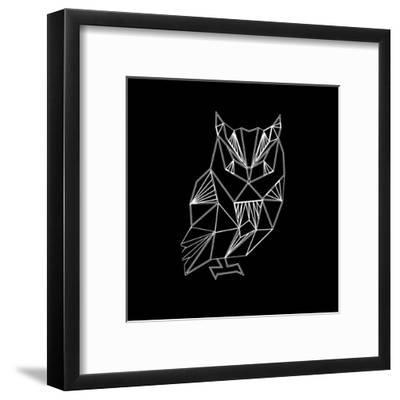 Owl Polygon-Lisa Kroll-Framed Art Print