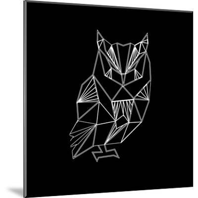 Owl Polygon-Lisa Kroll-Mounted Art Print