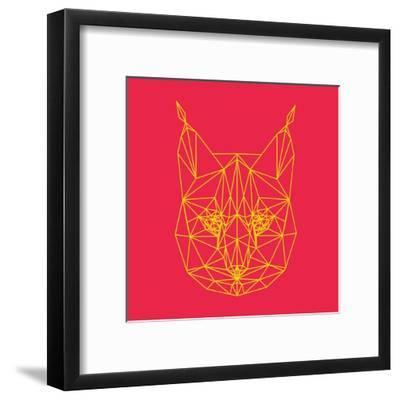 Bobcat Polygon 2-Lisa Kroll-Framed Art Print