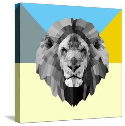 Party Lion-Lisa Kroll-Stretched Canvas Print