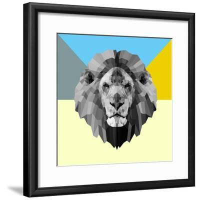 Party Lion-Lisa Kroll-Framed Premium Giclee Print