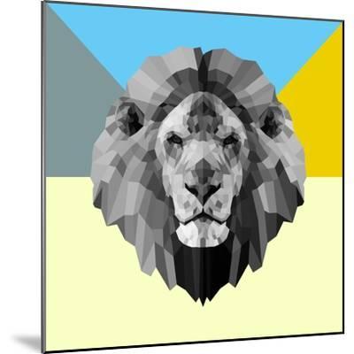 Party Lion-Lisa Kroll-Mounted Premium Giclee Print