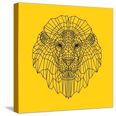 Lion Head Yellow Mesh-Lisa Kroll-Stretched Canvas Print