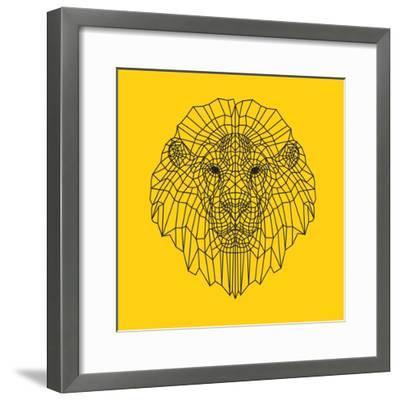 Lion Head Yellow Mesh-Lisa Kroll-Framed Premium Giclee Print