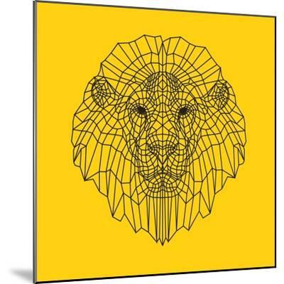 Lion Head Yellow Mesh-Lisa Kroll-Mounted Premium Giclee Print