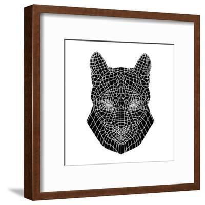 Mountain Lion Mesh-Lisa Kroll-Framed Art Print