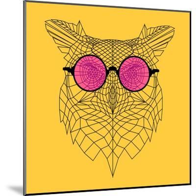 Owl in Pink Glasses-Lisa Kroll-Mounted Art Print