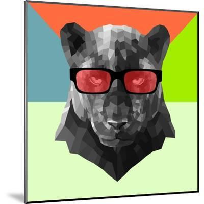 Party Panther in Red Glasses-Lisa Kroll-Mounted Art Print