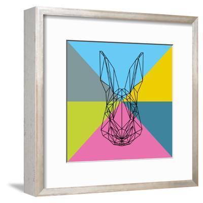 Party Rabbit-Lisa Kroll-Framed Art Print