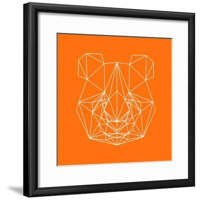 Panda on Orange-Lisa Kroll-Framed Premium Giclee Print