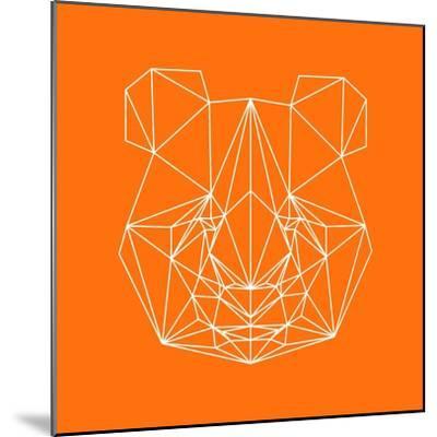Panda on Orange-Lisa Kroll-Mounted Premium Giclee Print