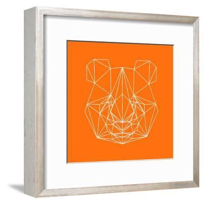 Panda on Orange-Lisa Kroll-Framed Art Print