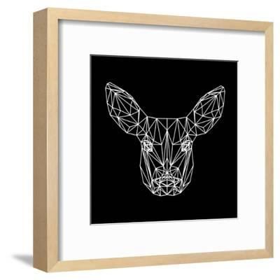 Baby Deer Polygon-Lisa Kroll-Framed Art Print