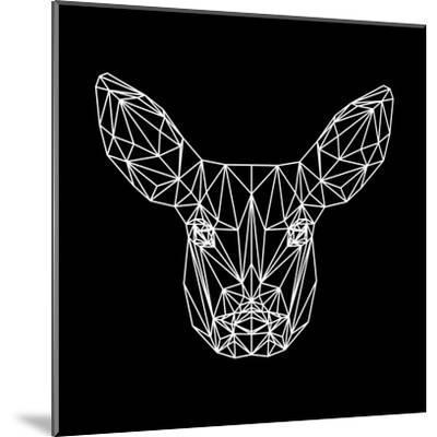Baby Deer Polygon-Lisa Kroll-Mounted Art Print